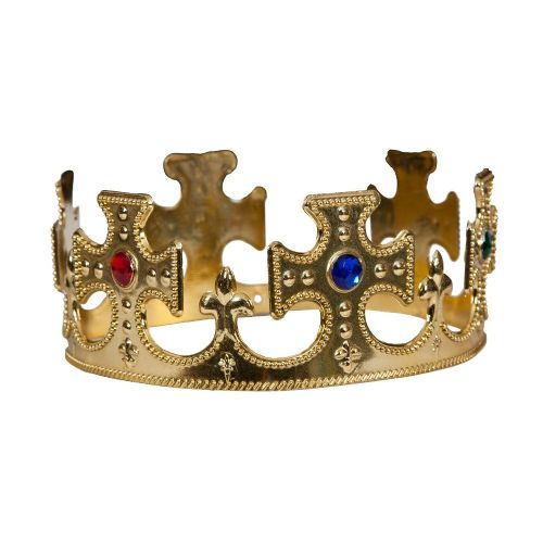 King or Queen Crown Royal Fancy Dress Costume Accessory